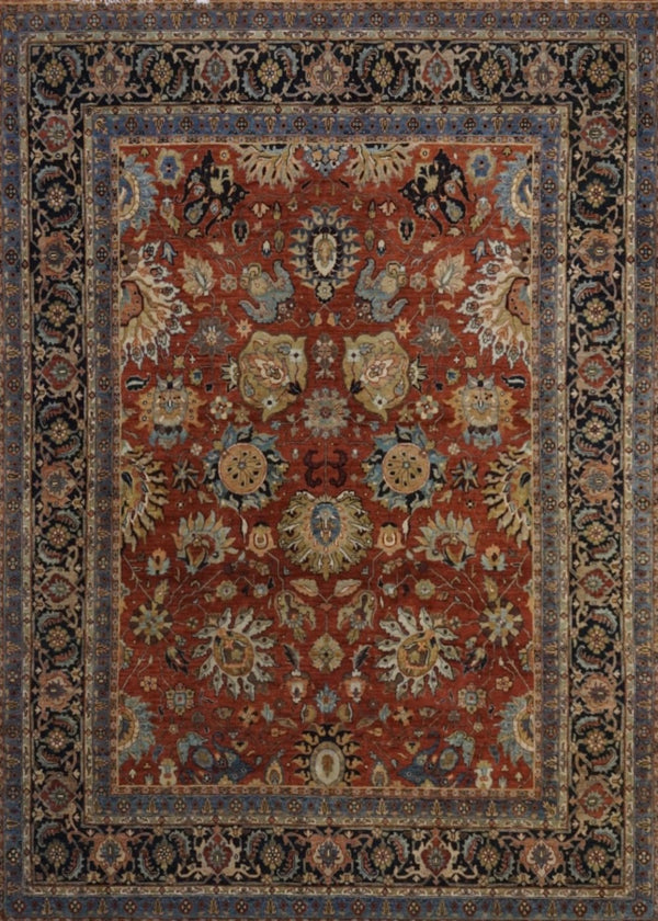 India Kashan Hand Knotted Wool 8X10