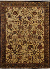 India Sultanabad Hand Knotted Wool 8X10