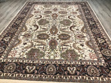 India Kashan Hand knotted Wool 9X12