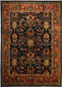 India Jaipur Hand knotted Wool 9X12