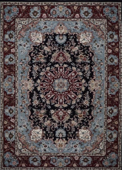 Chinese Tabriz Hand Knotted Wool & Silk 4X6