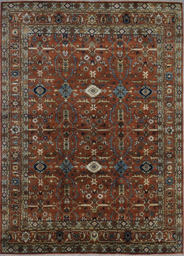 Indian Heriz HDFR Collection Wool 8X10