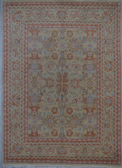 Chinese Oushak Hand Knotted Wool 8X10
