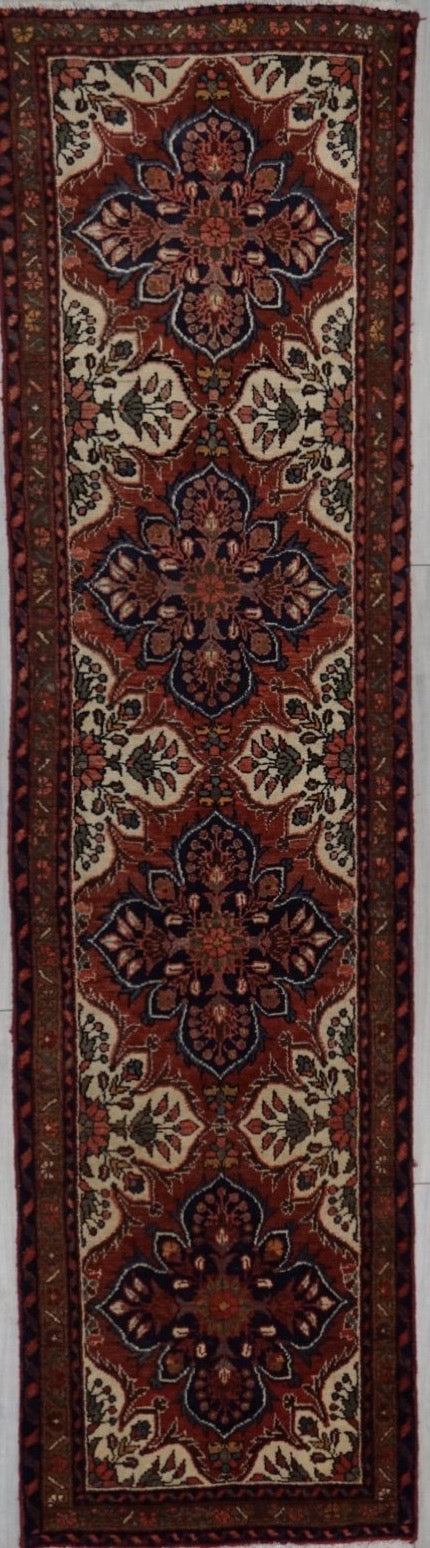 Old Persian Herat Hand Knotted Wool 3X10