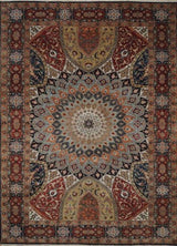 India Tabriz Hand Knotted Dome 8x10