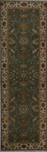 India Jaipur Hand knotted Wool 2X8