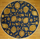 India Transitional Hand  knotted Wool &Silk 8X8