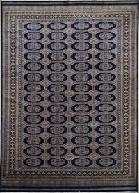 Pakistan Bokahra Hand Knotted Wool & Silk 8X10