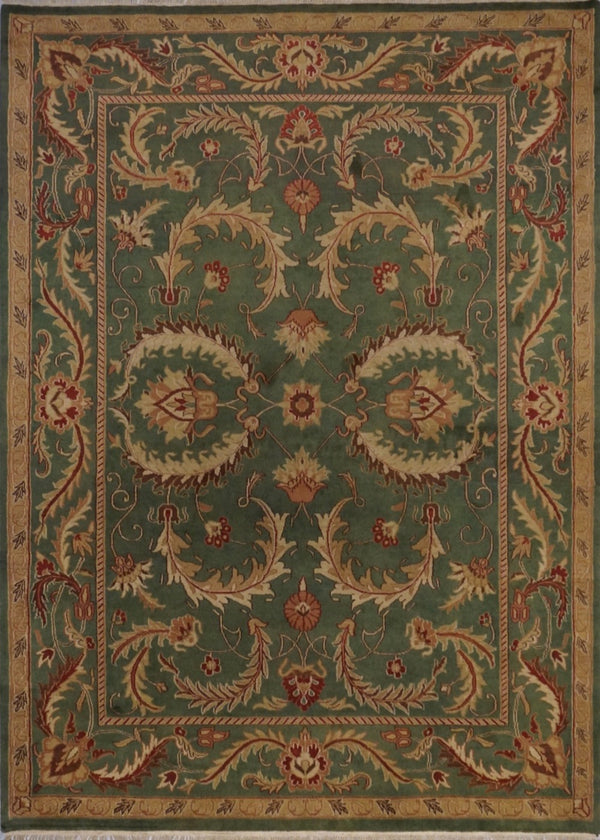 India Jaipur Hand Knotted Wool 8X10