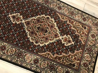 India Tabriz Mahi 2.10 x 17.5 Hand Knotted Wool