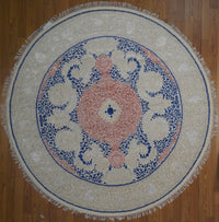 India Tabriz Modern Hand Knotted Wool &Silk 8X8