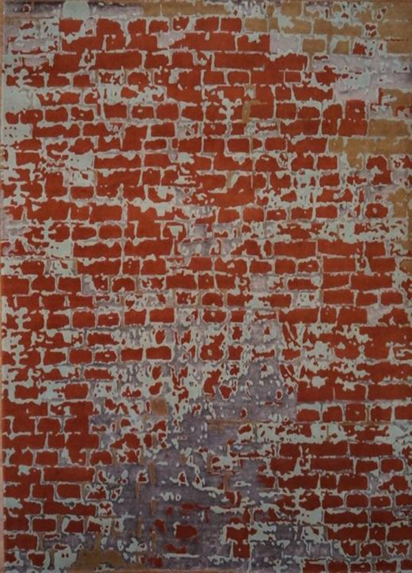 India Old Brick Wall  8x10