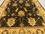 India Oushak Hand knotted Wool 9X12