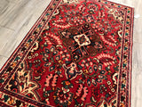 Old Persian Hamadan 4.3 x 6.5 Hand Knotted Wool