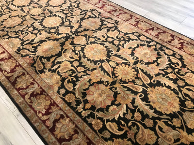 India jaipur 6x18 Hand Knotted Wool