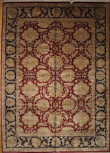 India Jaipur Hand Knotted Wool 12x18