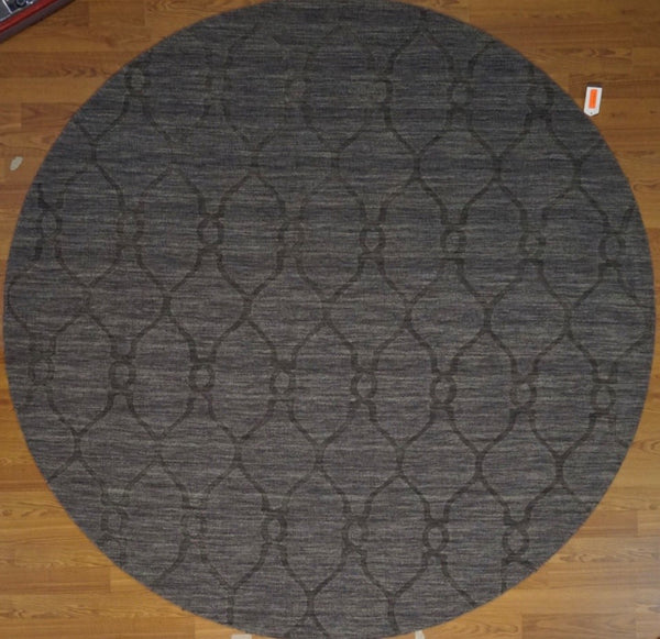 India Hand Tufted Wool 8x8 Round