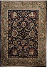 India Agra Hand knotted Wool 9X12