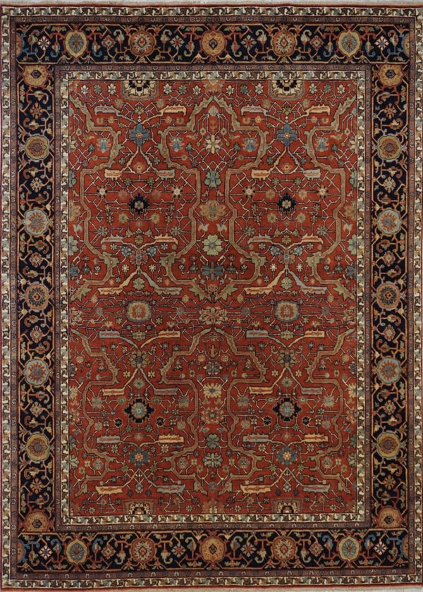 India Heriz Hand Knotted Wool 8X!0