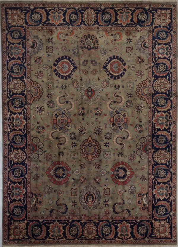 India Sarouq Hand knotted Wool 9X12