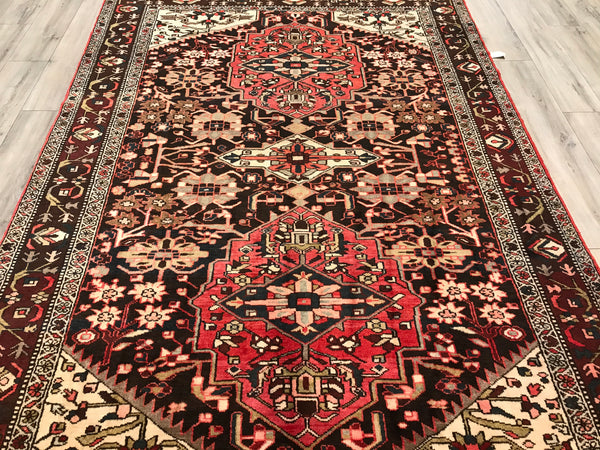 Persian old Hamadan 7x10 Hand Knotted Wool