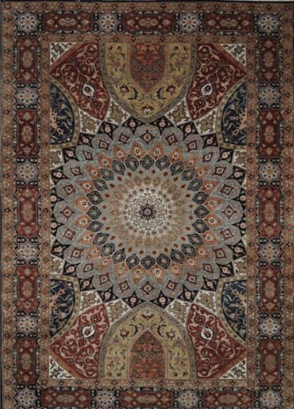 India Tabriz dome 6x9