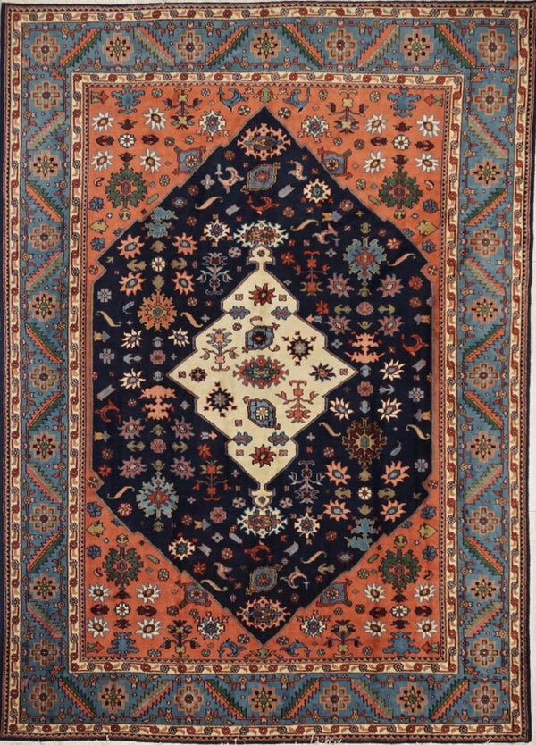 India Heriz Hand knotted Wool 9X12