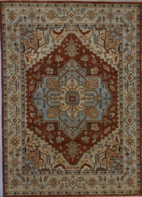 India Heriz Hand Knotted Wool 8X10