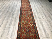 India Agra 2.7 x 19.9 Hand Knotted Wool