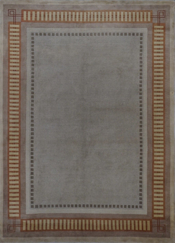 Tibet India Modern Hand Knotted Wool 8X10 Used Rug