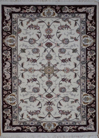 Chinese Tabriz Hand Knotted Wool & Silk 3X5