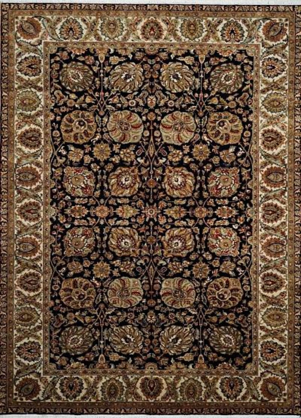 India Tabriz Hand Knotted Wool 6x9