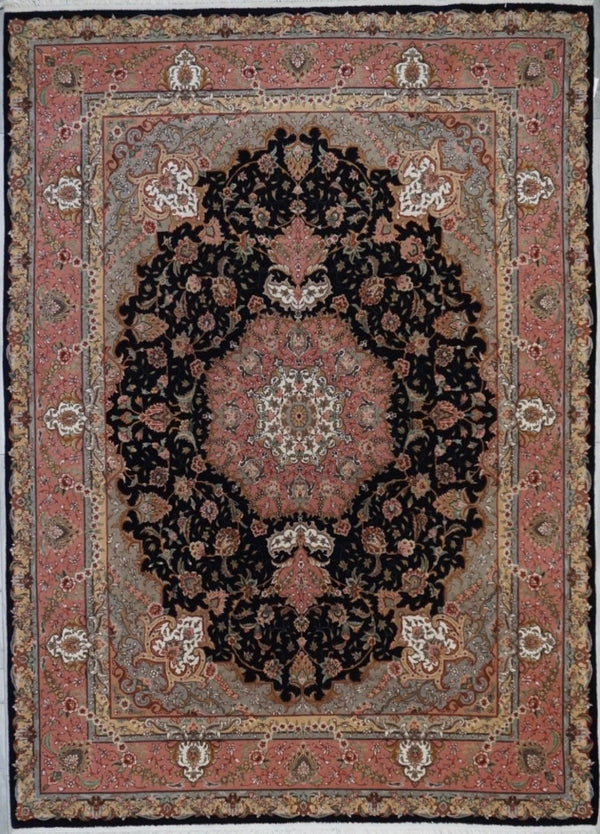 Chinese Tabriz Hand Knotted Wool & silk 8X10