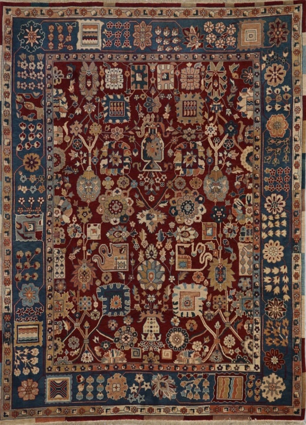 India Mahal Hand Knotted Wool 8X10