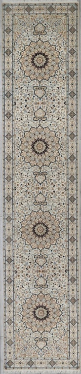 India Tabriz Wool/Silk 3x12