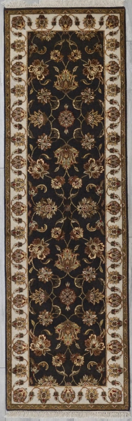 India Jaipur Hand knotted Wool/Silk 3x8