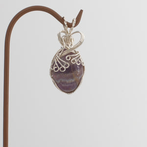 Amethyst Pendant Wrapped in Sterling Silver