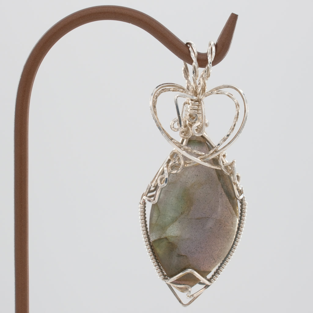 Labradorite Pendant Wrapped in Sterling Silver