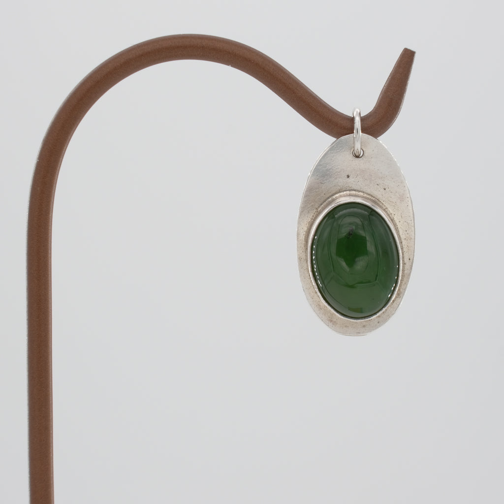 Sterling Silver and Jade Pendant