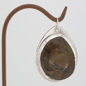 Polished Fossil Pendant set in Sterling Silver