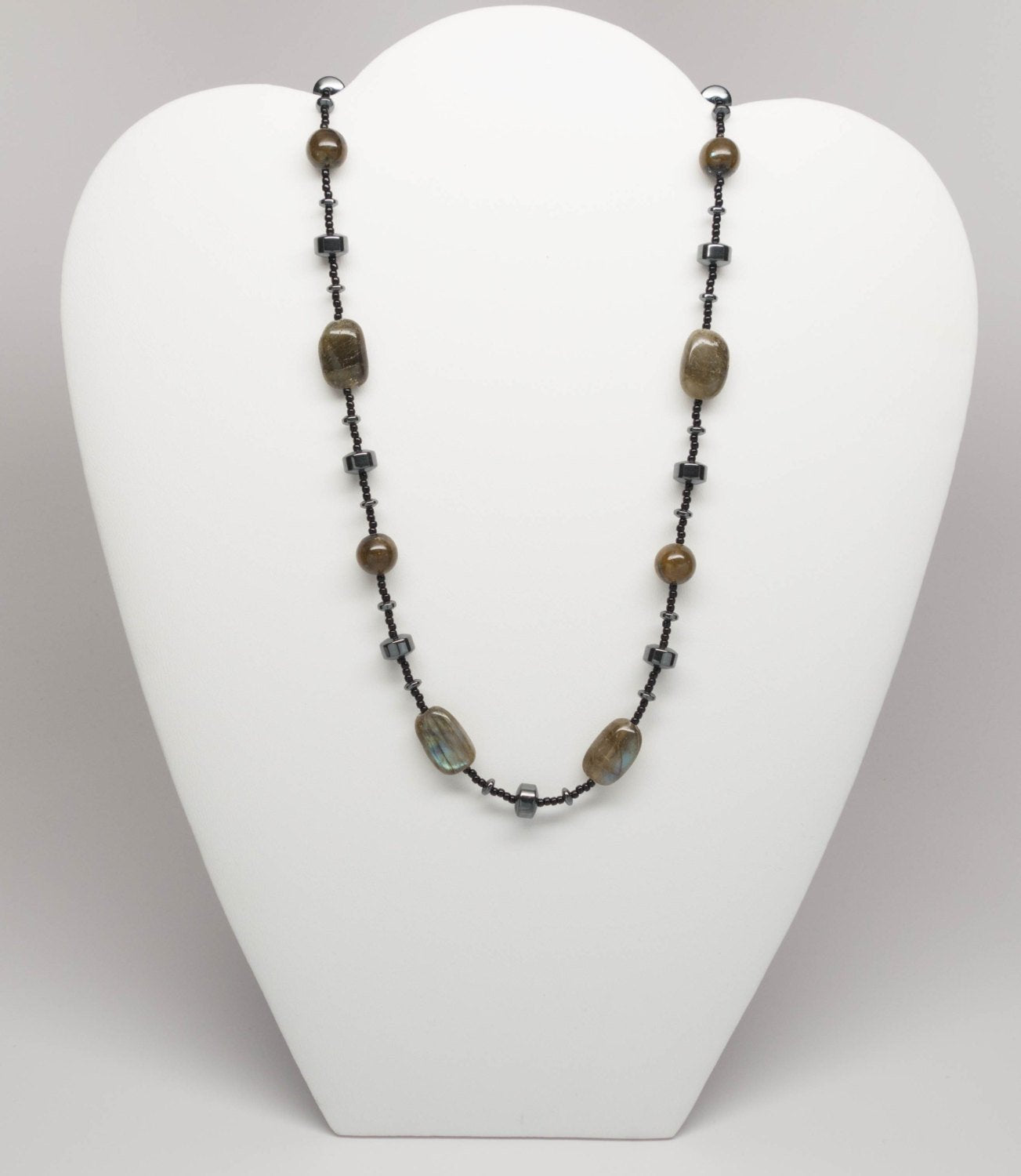 Labradorite and Hematite Necklace