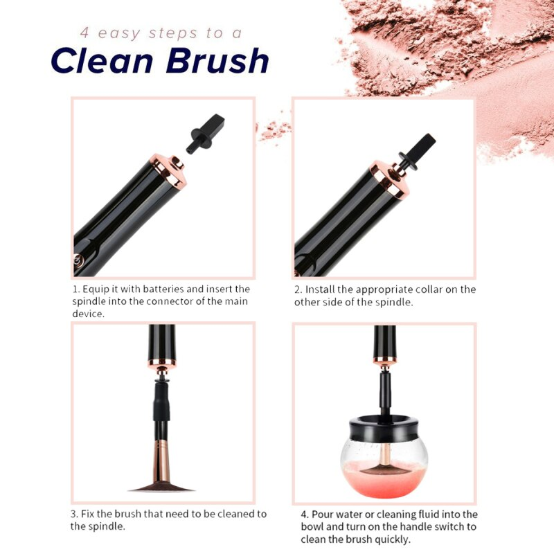 Electric Makeup Brush Cleaner & Dryer Pro