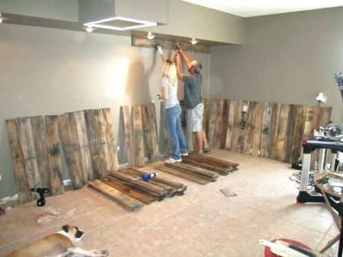 Modern Pallet Wall Bathroom