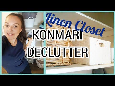 ORGANIZE MY LINEN CLOSET WITH ME | KONMARI METHOD | DECLUTTER 2019