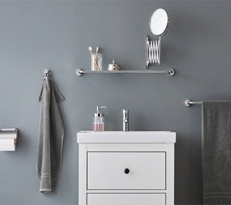 Superb Gray Bathroom Accessories