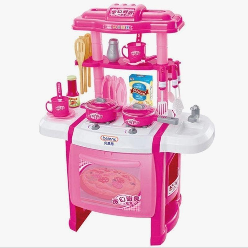 Layout Pink Kitchen Set