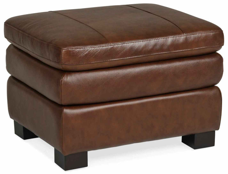 Fancy Genuine Leather Ottoman