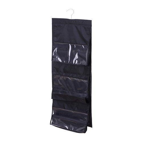 Exclusive geboor hanging handbag organizer dust proof storage holder bag wardrobe closet for purse clutch with 6 larger pockets black