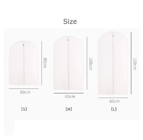 Related monojoy garment bags for storage moth proof hanging clear clothes organizer with zipper dust covers closet translucent wardrobe suit coat peva thicken 5 pack 3medium 2small