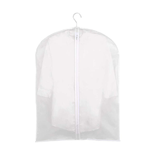 Results monojoy garment bags for storage moth proof hanging clear clothes organizer with zipper dust covers closet translucent wardrobe suit coat peva thicken 5 pack 3medium 2small